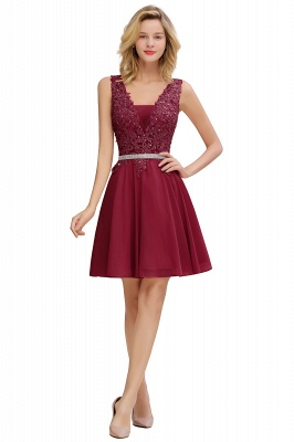 Lovely Sleeveless Short Prom Dress   Mini Homecoming Dress With Appliques_2