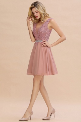 Lovely Sleeveless Short Prom Dress   Mini Homecoming Dress With Appliques_11