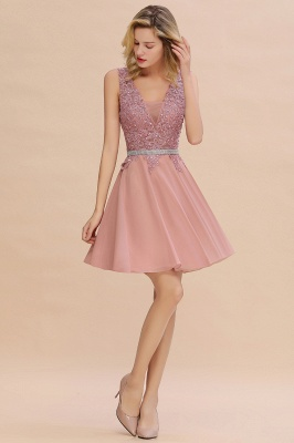 Lovely Sleeveless Short Prom Dress   Mini Homecoming Dress With Appliques_13