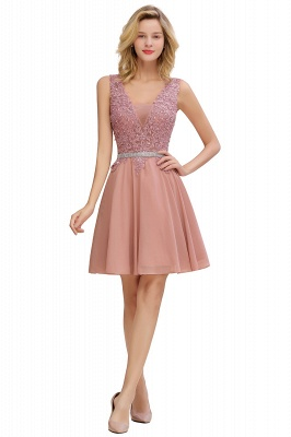 Lovely Sleeveless Short Prom Dress   Mini Homecoming Dress With Appliques_7