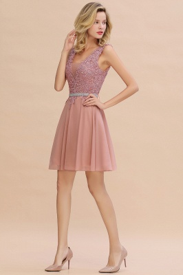 Lovely Sleeveless Short Prom Dress   Mini Homecoming Dress With Appliques_12
