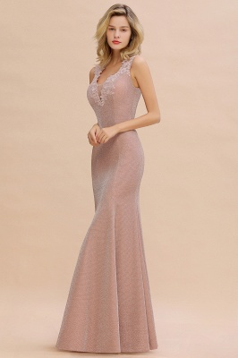 Dusty Pink Shinning Long Prom Dress Mermaid With Appliques_14