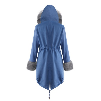 Women's Solid Color Hooded Long Faux Fur Coat Winter Jacket_30