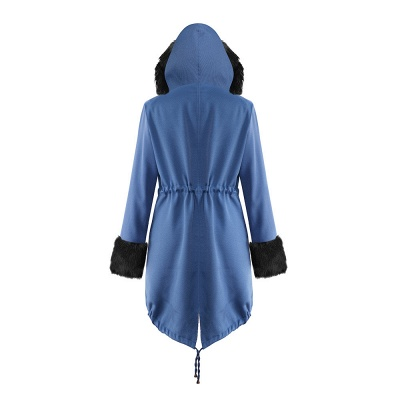 Women's Solid Color Hooded Long Faux Fur Coat Winter Jacket_27
