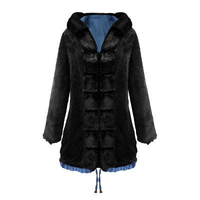Women's Solid Color Hooded Long Faux Fur Coat Winter Jacket_21