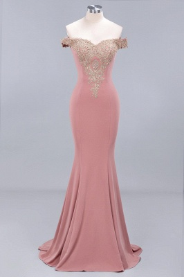 Elegant Off-the-Shoulder Mermaid Prom Dress Long With Lace Appliques_11