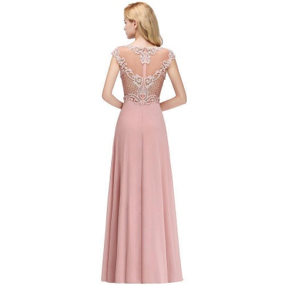 A-line Tulle Lace Bridesmaid Dress with Pearls On Sale_6