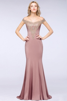 Elegant Off-the-Shoulder Mermaid Prom Dress Long With Lace Appliques_18