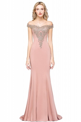 Elegant Off-the-Shoulder Mermaid Prom Dress Long With Lace Appliques_3