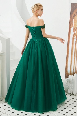 Princess Off-the-Shoulder Prom Dress | Beadings Sweetheart Ball Gown Evening Gowns_10