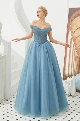 Princess Off-the-Shoulder Prom Dress | Beadings Sweetheart Ball Gown Evening Gowns_14