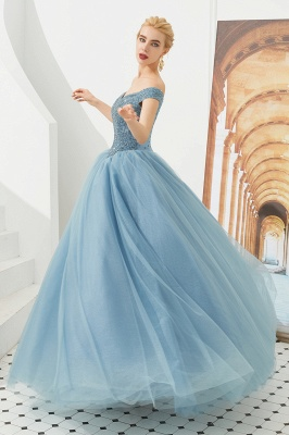 Princess Off-the-Shoulder Prom Dress | Beadings Sweetheart Ball Gown Evening Gowns_16