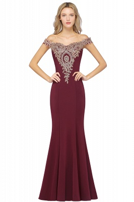 Elegant Off-the-Shoulder Mermaid Prom Dress Long With Lace Appliques_2