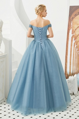 Princess Off-the-Shoulder Prom Dress | Beadings Sweetheart Ball Gown Evening Gowns_25