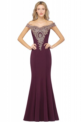 Elegant Off-the-Shoulder Mermaid Prom Dress Long With Lace Appliques_4