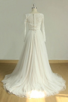 Chic Sweetheart Lace Wedding Dress | White Tulle Ruffles Bridal Gowns_5