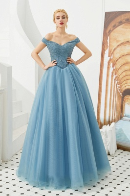 Princess Off-the-Shoulder Prom Dress | Beadings Sweetheart Ball Gown Evening Gowns_13