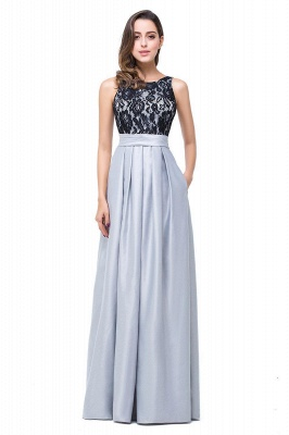 Simple A-line Crew Chiffon Open Back Lace Bridesmaid Dress On Sale_1