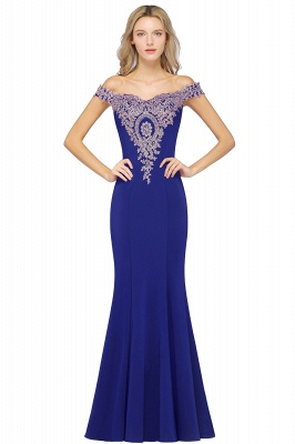 Elegant Off-the-Shoulder Mermaid Prom Dress Long With Lace Appliques_5