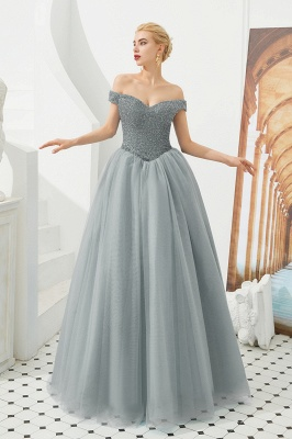 Princess Off-the-Shoulder Prom Dress | Beadings Sweetheart Ball Gown Evening Gowns_3