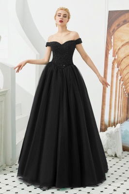 Princess Off-the-Shoulder Prom Dress | Beadings Sweetheart Ball Gown Evening Gowns_2