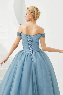 Princess Off-the-Shoulder Prom Dress | Beadings Sweetheart Ball Gown Evening Gowns_24