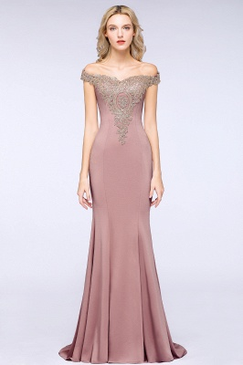 Elegant Off-the-Shoulder Mermaid Prom Dress Long With Lace Appliques_21
