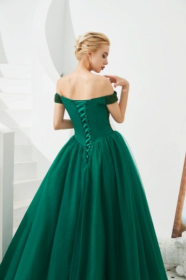 Princess Off-the-Shoulder Prom Dress | Beadings Sweetheart Ball Gown Evening Gowns_11