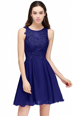 Burgundy A-line Homecoming Dress with Lace Appliques On Sale_4