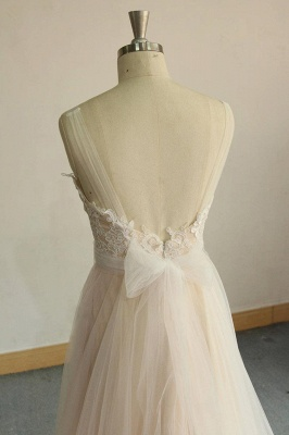 Affordable Jewel Sleeveless A-line Wedding Dress | Tulle Lace Bridal Gowns_7