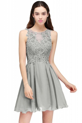 Burgundy A-line Homecoming Dress with Lace Appliques On Sale_5