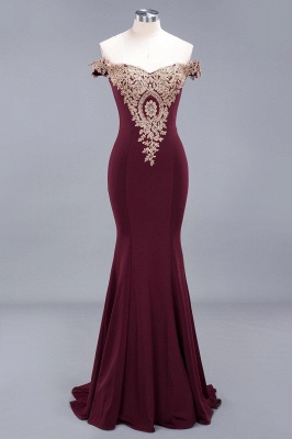 Elegant Off-the-Shoulder Mermaid Prom Dress Long With Lace Appliques_14