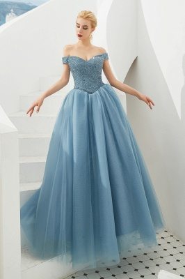 Princess Off-the-Shoulder Prom Dress | Beadings Sweetheart Ball Gown Evening Gowns_17