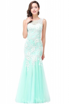 Long Lace Mermaid Sleeveless Maxi Prom Dress On Sale_7