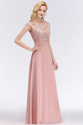 A-line Tulle Lace Bridesmaid Dress with Pearls On Sale_2