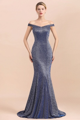 Stunning Off-the-Shoulder Mermaid Prom Dress Long Zipper Back_1