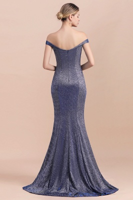 Stunning Off-the-Shoulder Mermaid Prom Dress Long Zipper Back_3