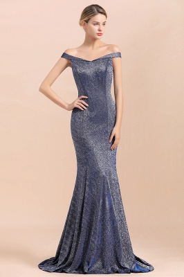 Stunning Off-the-Shoulder Mermaid Prom Dress Long Zipper Back_6