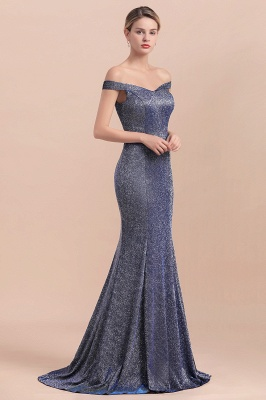 Stunning Off-the-Shoulder Mermaid Prom Dress Long Zipper Back_7