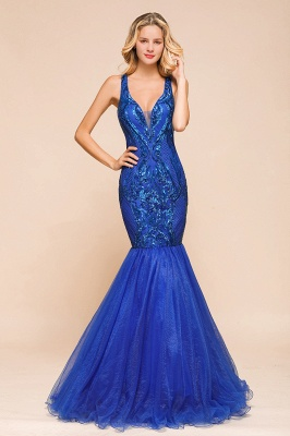 Gorgeous Royal Blue Mermaid Prom Dress | Long Sequins Evening Party Gowns