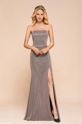 Stunning Strapless Long Prom Dress With Split_1