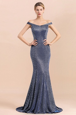 Stunning Off-the-Shoulder Mermaid Prom Dress Long Zipper Back_4