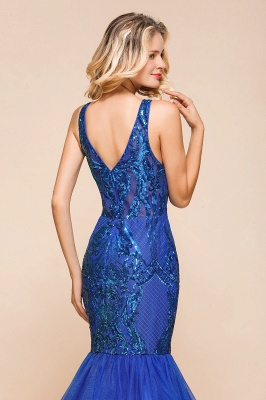 Gorgeous Royal Blue Mermaid Prom Dress | Long Sequins Evening Party Gowns_9