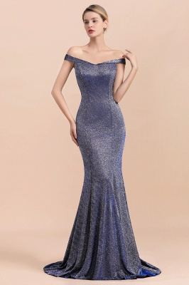 Stunning Off-the-Shoulder Mermaid Prom Dress Long Zipper Back_8