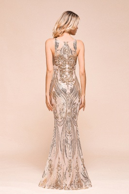 Gorgeous Champagne Sequins Mermaid Prom Dress | Long Evening Gowns_3