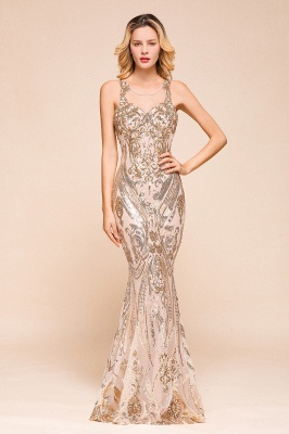Gorgeous Champagne Sequins Mermaid Prom Dress | Long Evening Gowns_1
