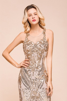 Gorgeous Champagne Sequins Mermaid Prom Dress | Long Evening Gowns_9