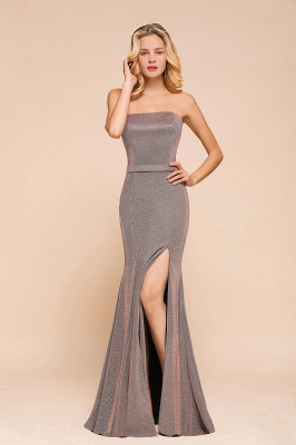 Stunning Strapless Long Prom Dress With Split_5