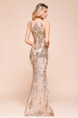 Gorgeous Champagne Sequins Mermaid Prom Dress | Long Evening Gowns_8