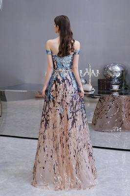 Glamorous Off-the-Shoulder Sequins Evening Gowns | Long Multi-Color Prom Dress_10